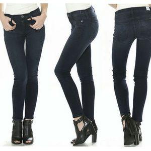 NWOT Hudson Nico Super Skinny Mid Rose Jeans Dark
